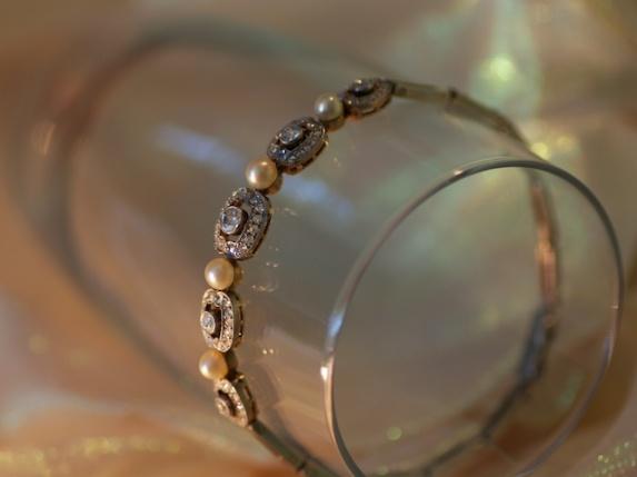 Diamonds Pearls & Champagne 6x8