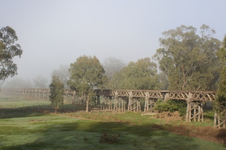 old rail bridge gundagai
