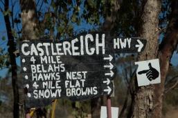 Signage at the 'Ridge