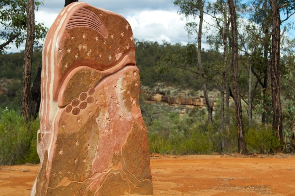 sculptures in the scrub - and the Dandry Gorge