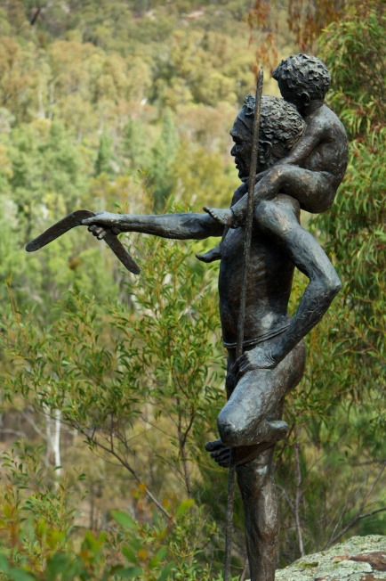 sculptures in the scrub - bronze close up