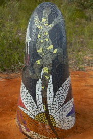 sculptures in the scrub - mosaic goanna