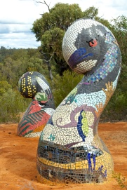 sculptures in the scrub - mosaics