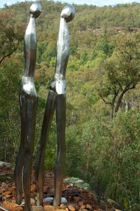 sculptures in the scrub - stainless steel