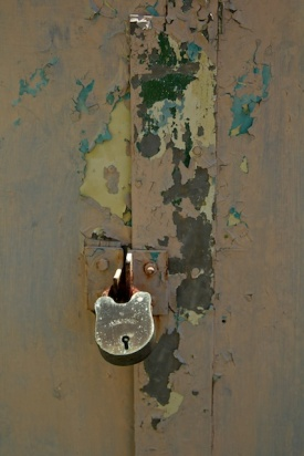 Fannie Bay Gaol Peeling Paint & Lock