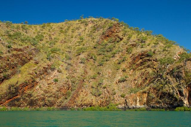 Talbot Bay folding rock landscape