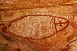 Wandjina art sea animal