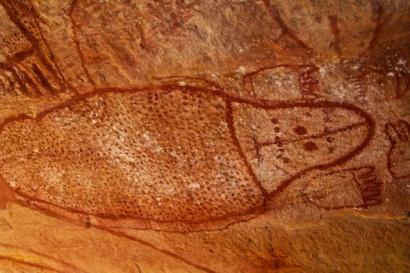 Wandjina art sea creature