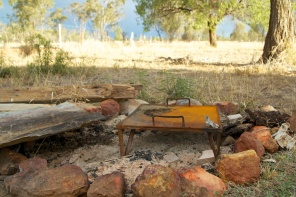 a great outdoor fireplace