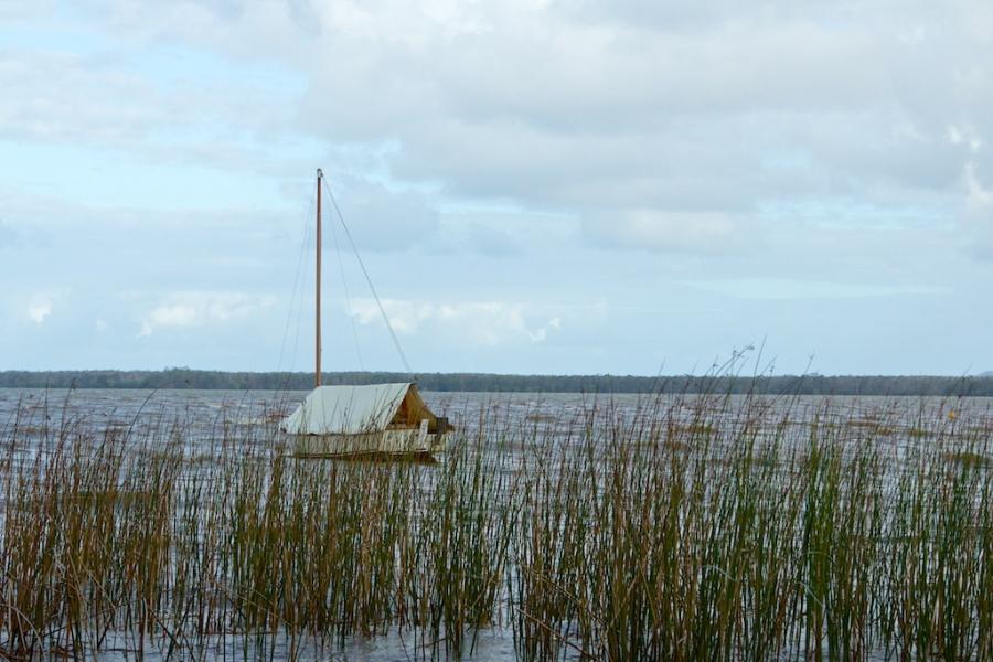 boat on Lake Cootharaba