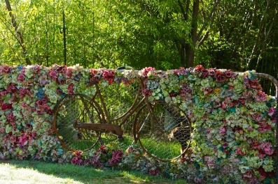 Dan's floral bike gate