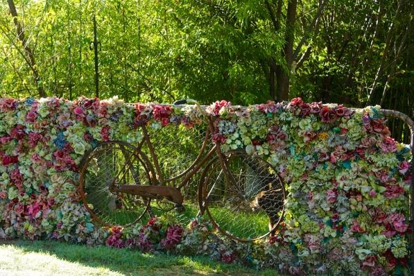 Dan's floral bike gate