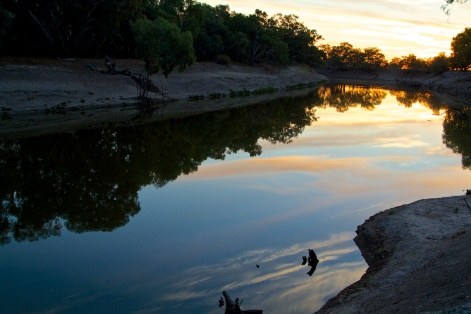 sunrise on the Darling at Wilcannia