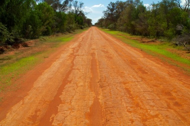 red roads in Gundabooka NP