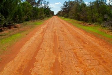 red roads in Gundabooka NP