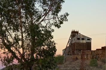 remnants of mine operations Broken Hill