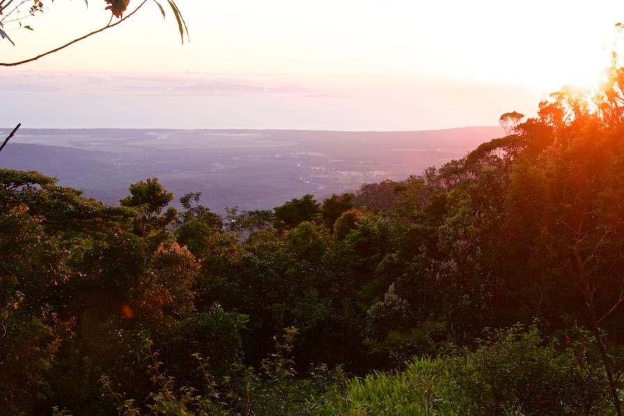 sunrise on the Paluma Range