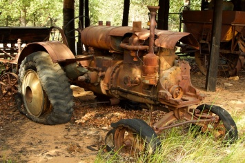 the old tractor Seaton's Farm